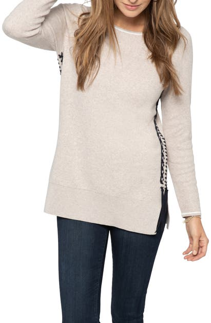 Nic + Zoe ON MY SIDE COTTON BLEND SWEATER