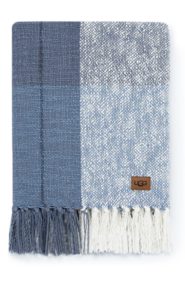 UGG<SUP>®</SUP> Benson Throw Blanket, Main, color, DENIM MULTI