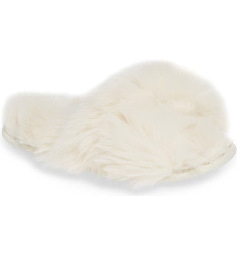 MAKE + MODEL Cuddle Plush Faux Fur Scuff Slipper, Main, color, 900