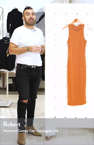 Microrib Sleeveless Midi Body-Con Dress, sales video thumbnail