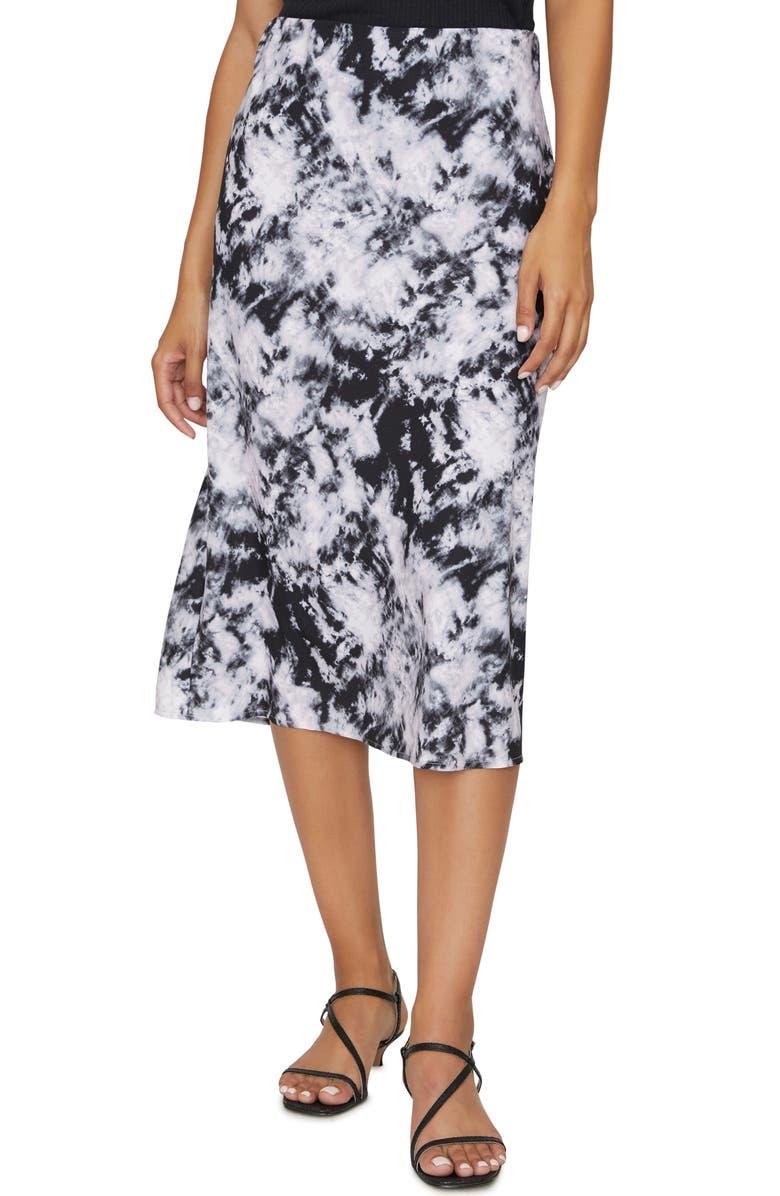 SANCTUARY Everyday Midi Skirt, Main, color, DARK TIE DYE