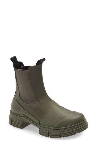 Ganni RECYCLED RUBBER CHELSEA RAIN BOOT