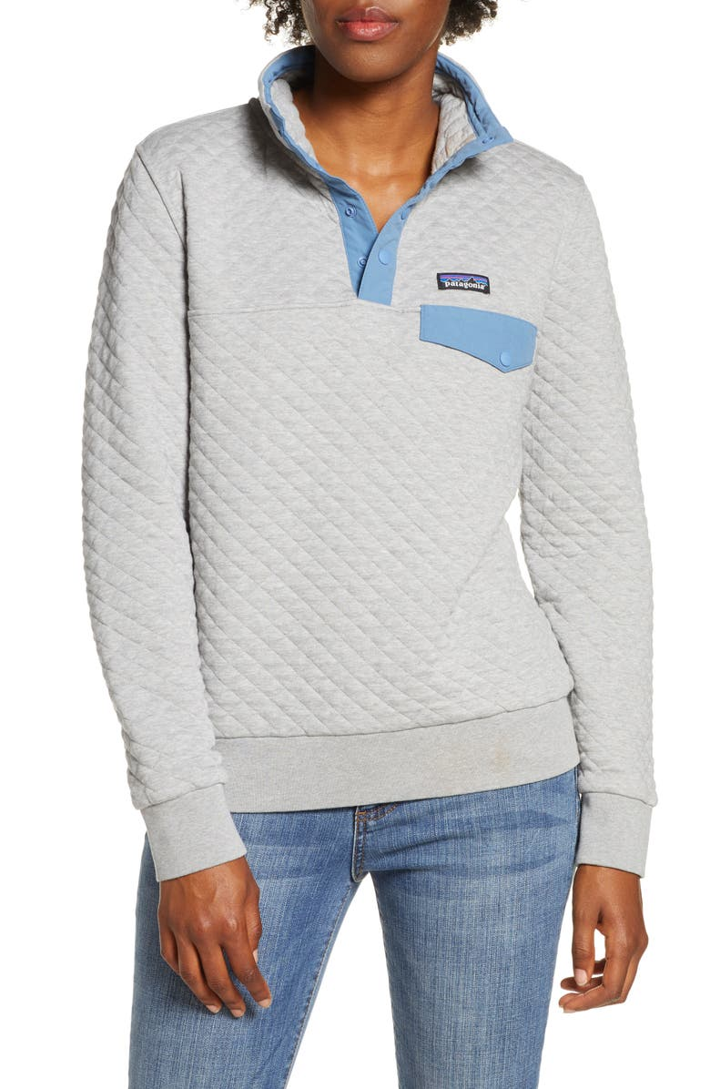 PATAGONIA Snap-T<sup>®</sup> Quilted Pullover, Main, color, DGWB DRIFT GREY/WOOLLY BLUE