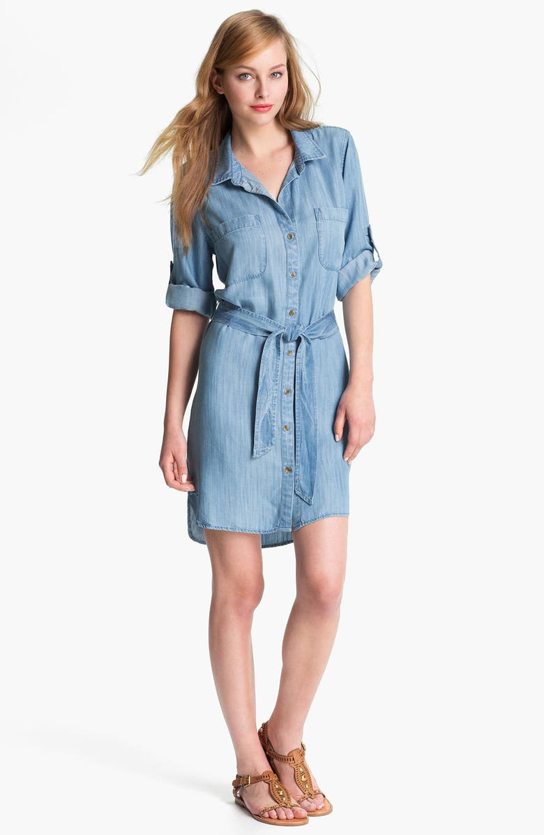 1ca900aa40b Side Stitch Two Pocket Chambray Shirtdress | Nordstrom