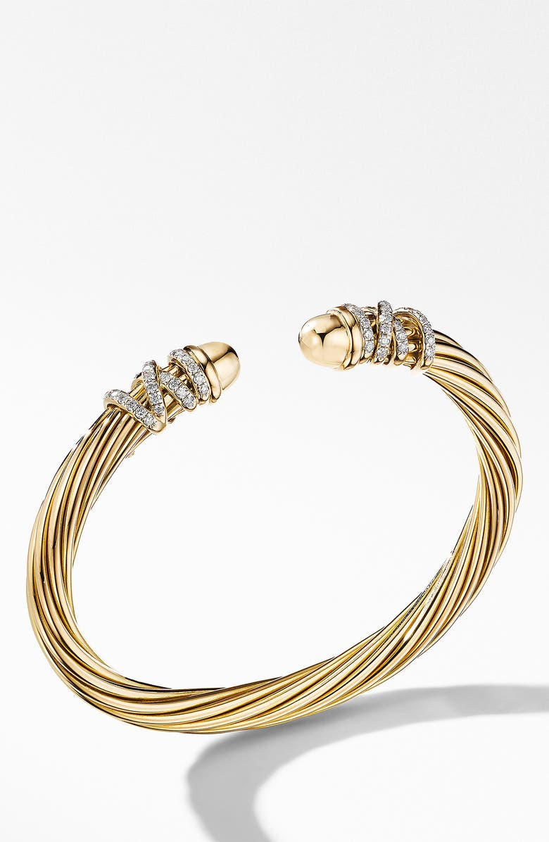 DAVID YURMAN Helena End Station 18K Gold & Diamond Bracelet, Main, color, GOLD DOME