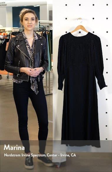 Fallen Long Sleeve Jacquard Midi Dress, sales video thumbnail