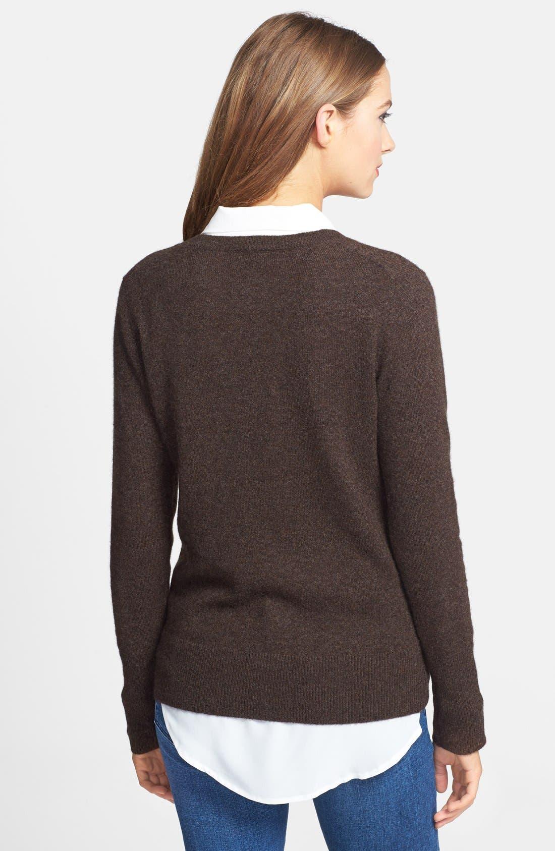 ,                             Cashmere V-Neck Sweater,                             Alternate thumbnail 19, color,                             200