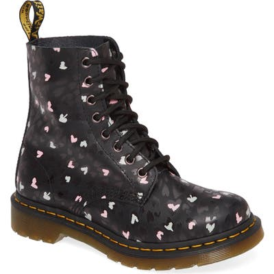 Dr. Martens 1460 Pascal Hearts Lace-Up Boot, Black
