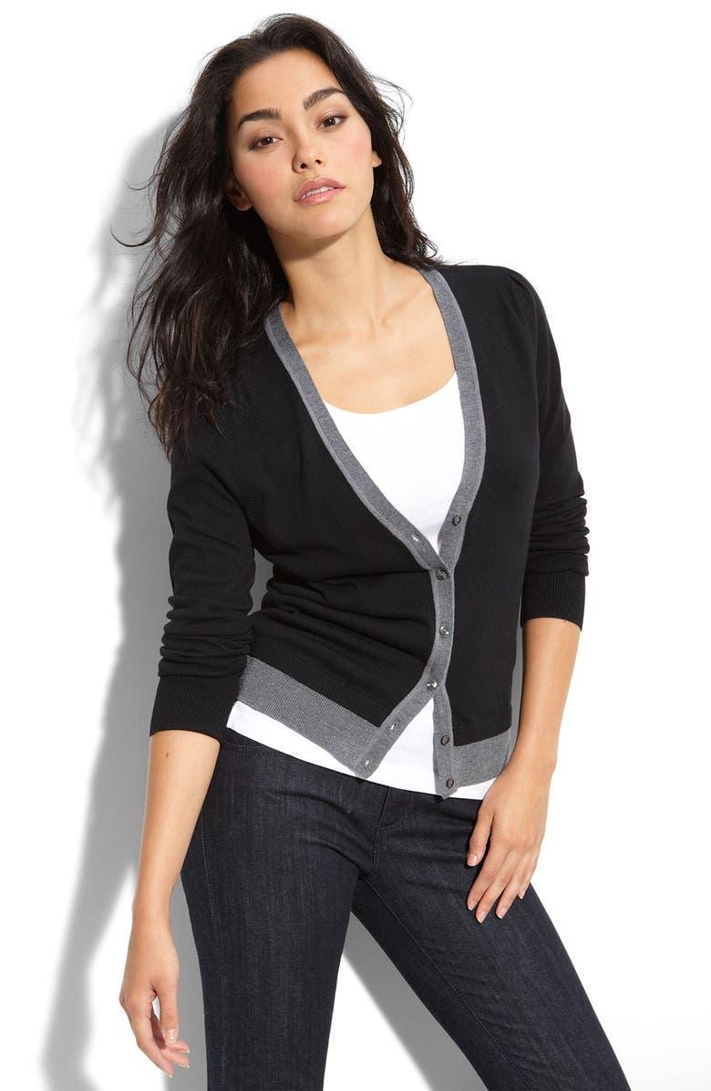 HALOGEN<SUP>®</SUP> Long Sleeve V-Neck Cardigan, Main, color, 960