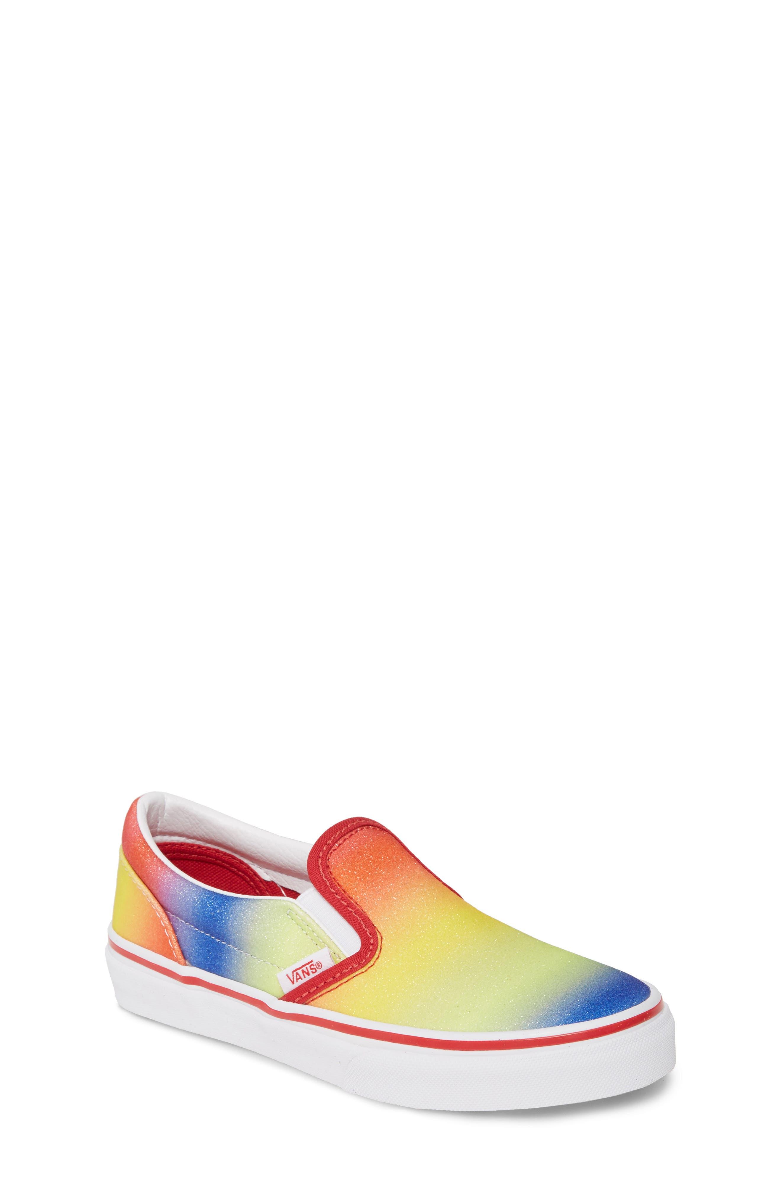 Vans Glitter Rainbow Slip-On Sneaker