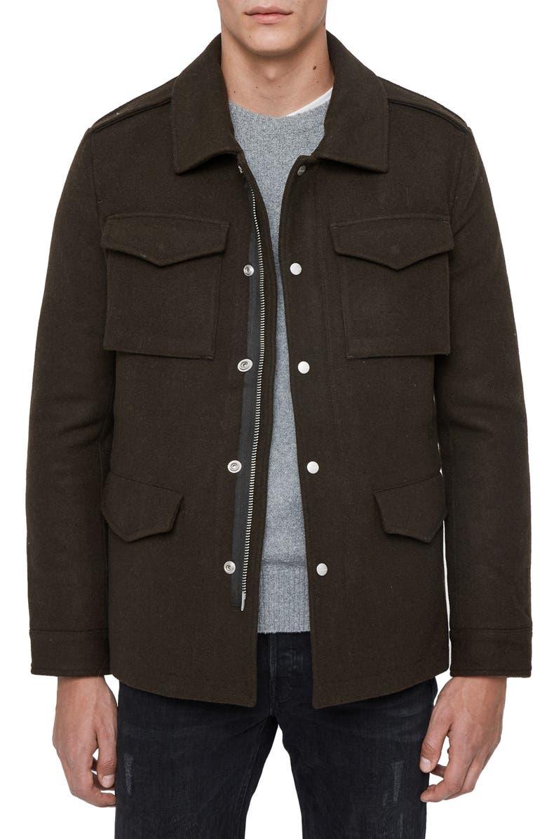 ALLSAINTS Kadleston Slim Fit Wool Blend Coat, Main, color, 209