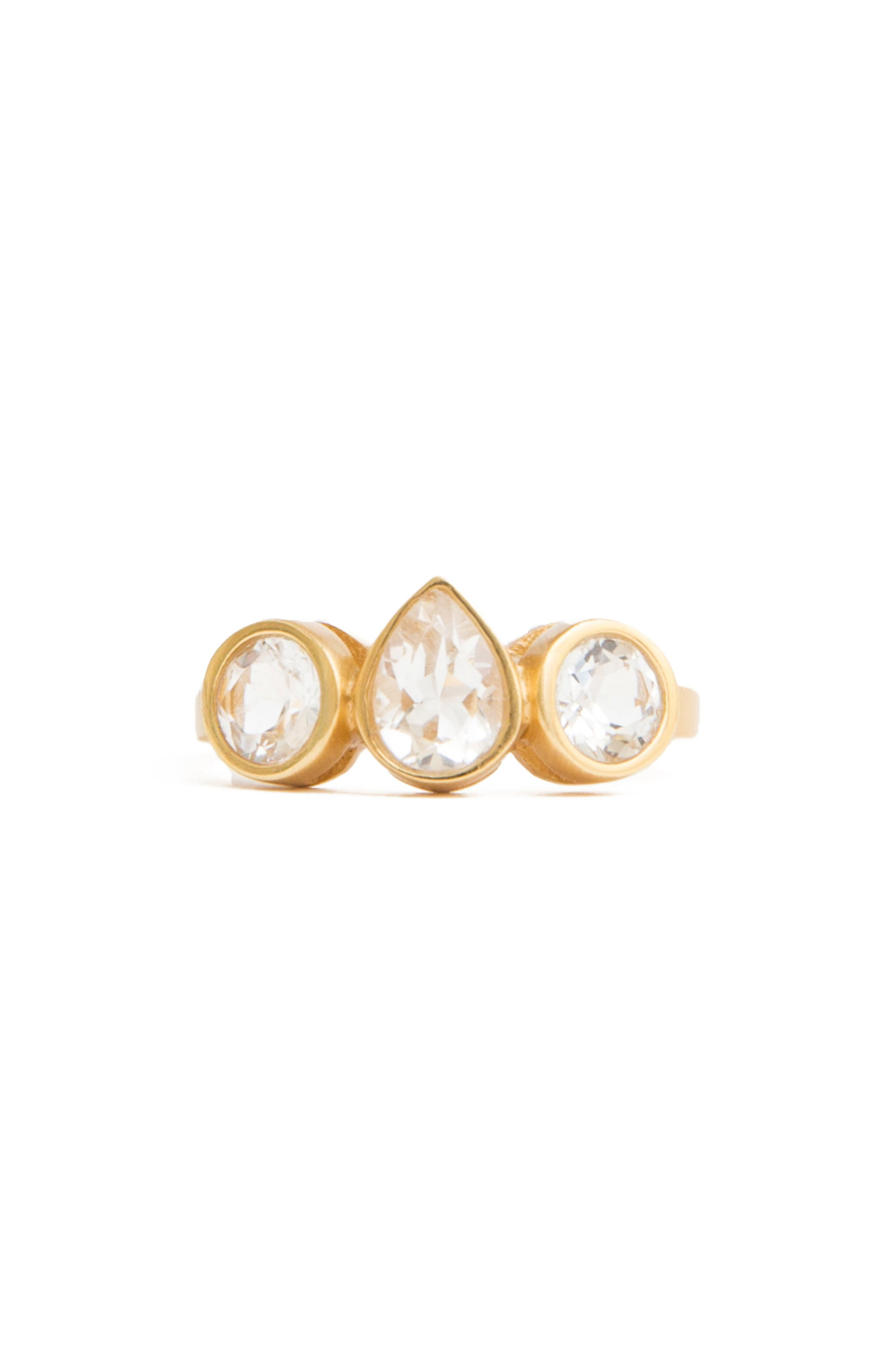 Lizzy Crystal Station Ring