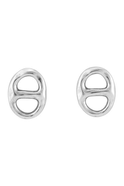 Image of Uno De 50 Silver Plated Moorings Stud Earrings