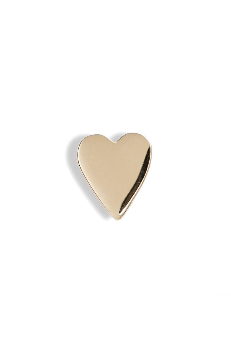 BONY LEVY 14K Gold Heart Stud Earring, Main, color, YELLOW GOLD