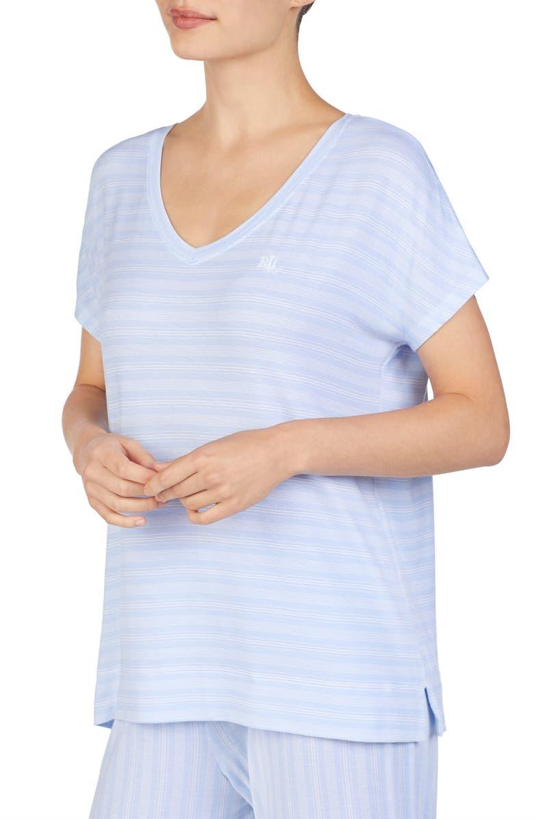 LAUREN RALPH LAUREN Pajama Tee, Main, color, BLUE