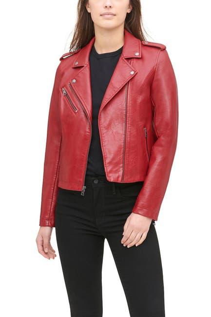 Image of Levi's Faux Leather Moto Jacket