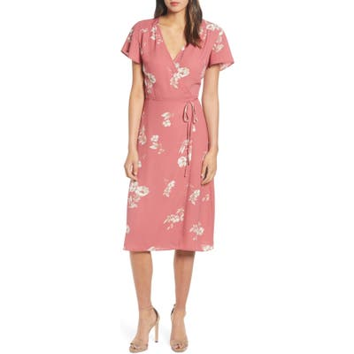 Leith Wrap Dress, Red