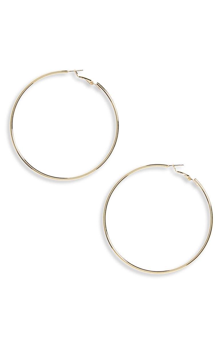 PANACEA Gold Hoop Earrings, Main, color, GOLD