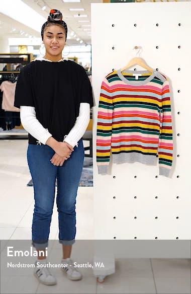 Shoulder Button Cotton & Wool Blend Crewneck Sweater, sales video thumbnail