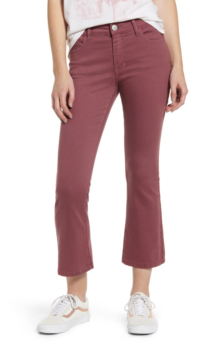 PROSPERITY DENIM Crop Flare Jeggings, Main, color, MAUVE