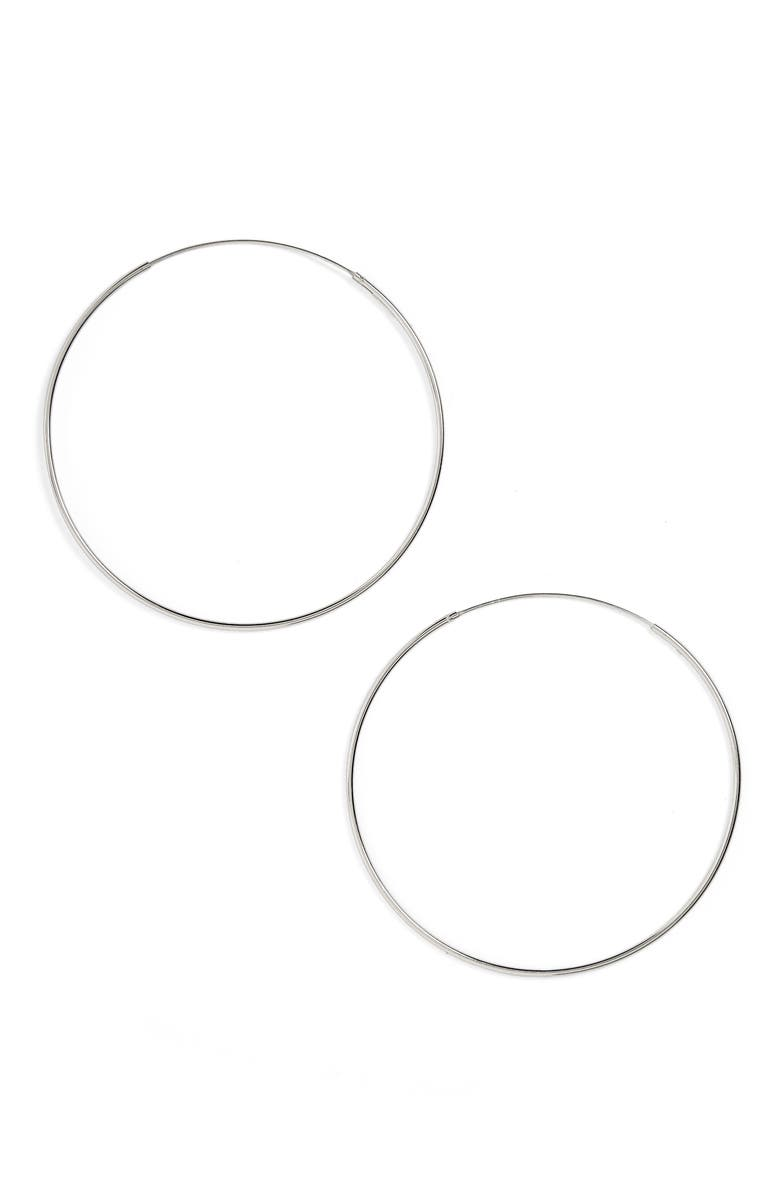 ARGENTO VIVO STERLING SILVER Argento Vivo Endless Hoop Earrings, Main, color, 040
