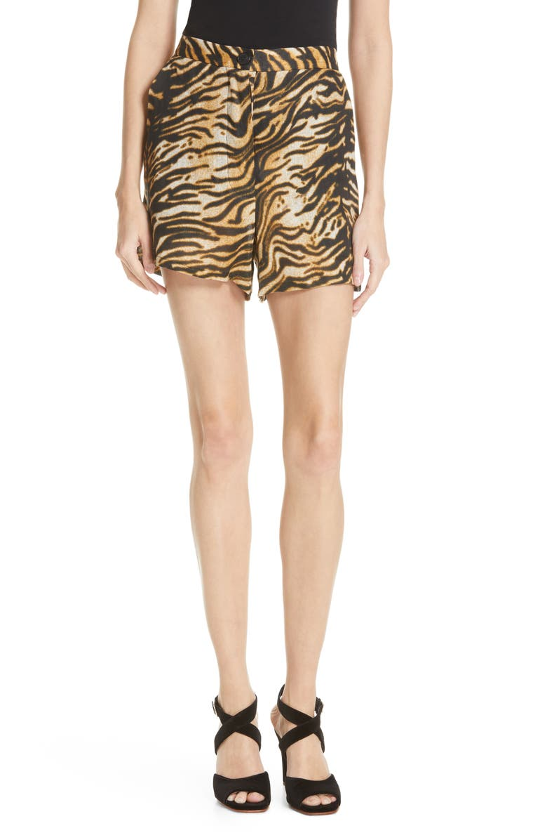 RACHEL COMEY Sycamore Shorts, Main, color, BROWN