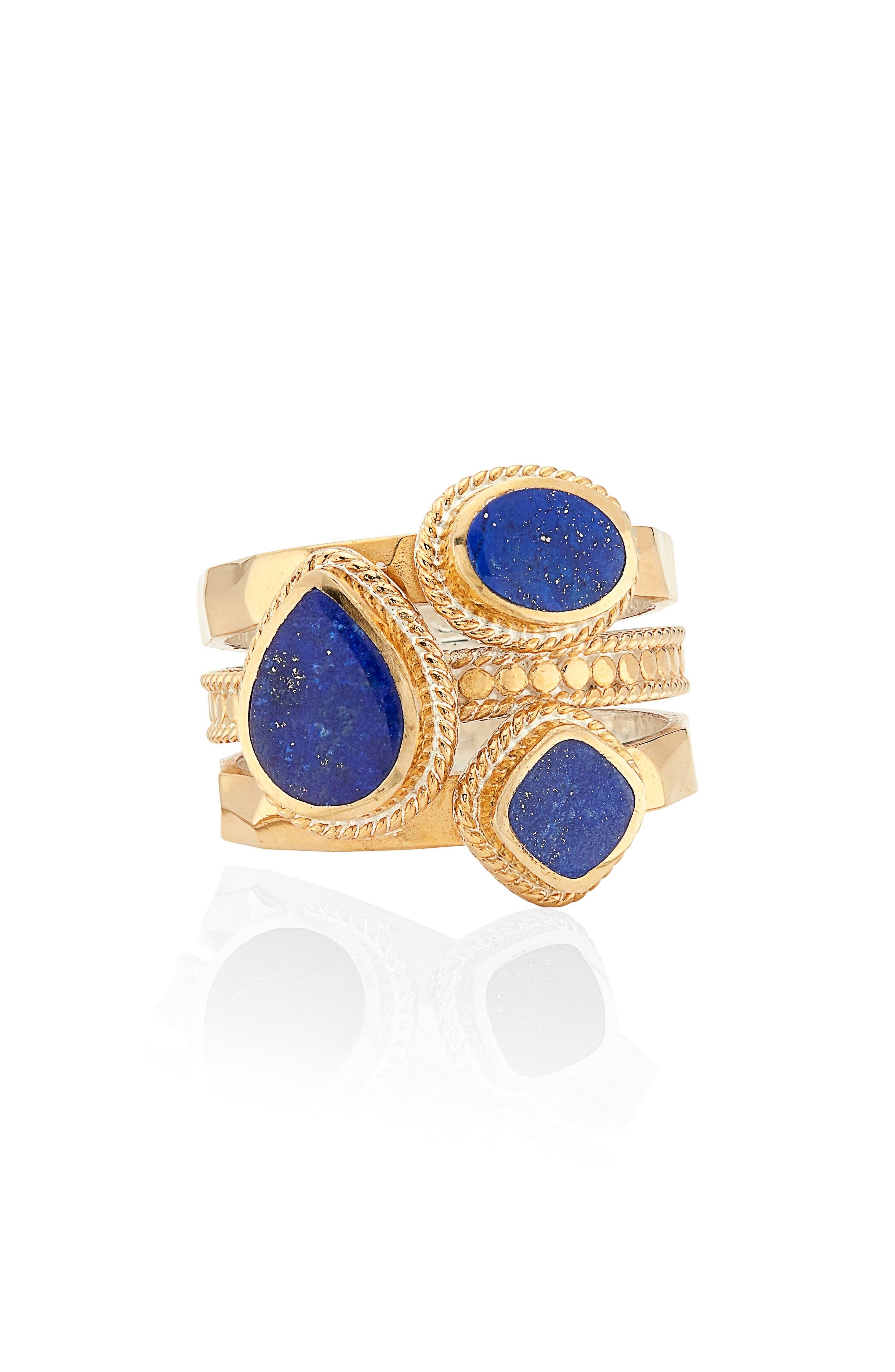 Lapis Lazuli Stacked Ring