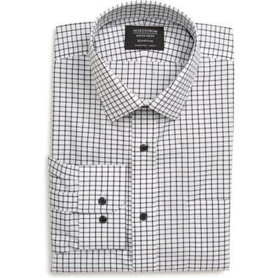 Nordstrom Shop Smartcare(TM) Trim Fit Check Dress Shirt - Black