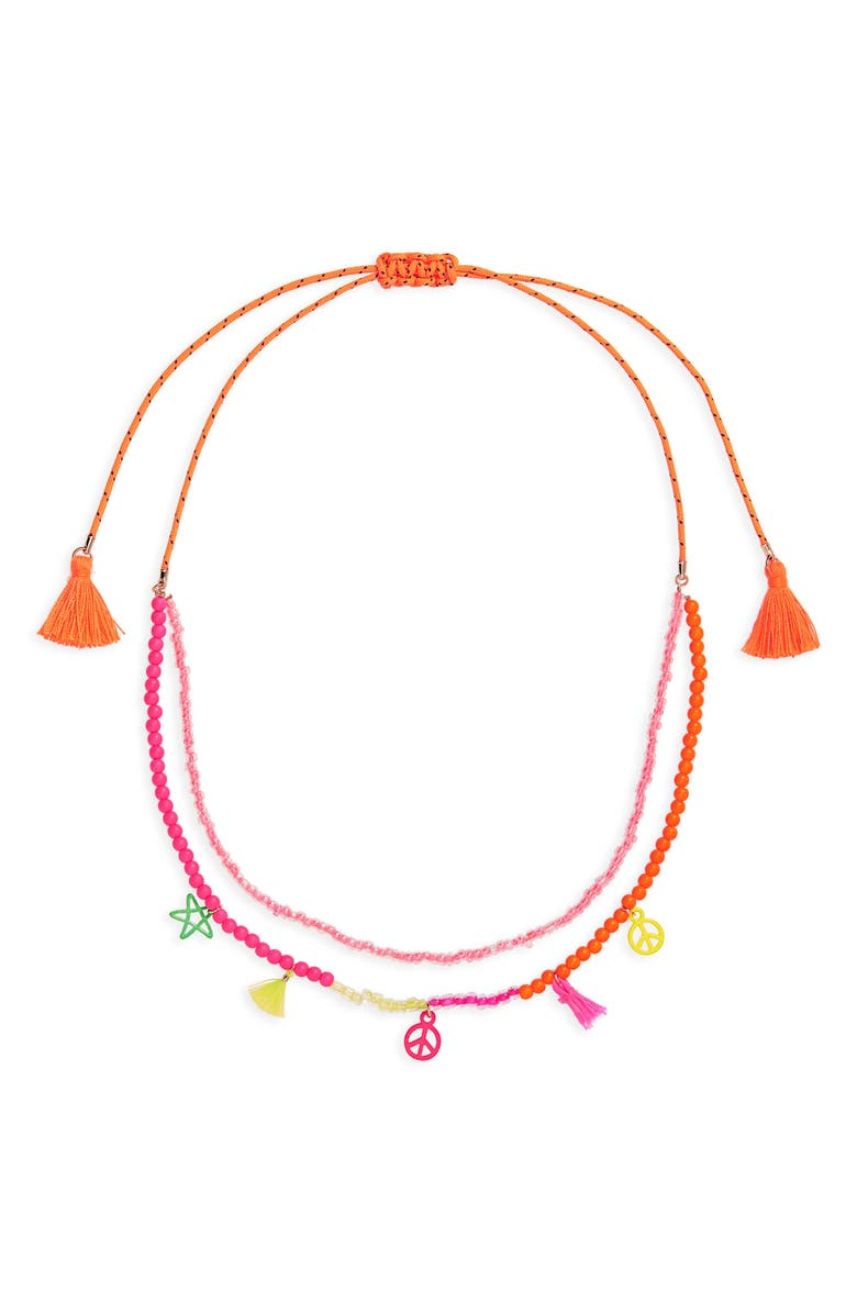 CARA Layered Charm Necklace, Main, color, 960