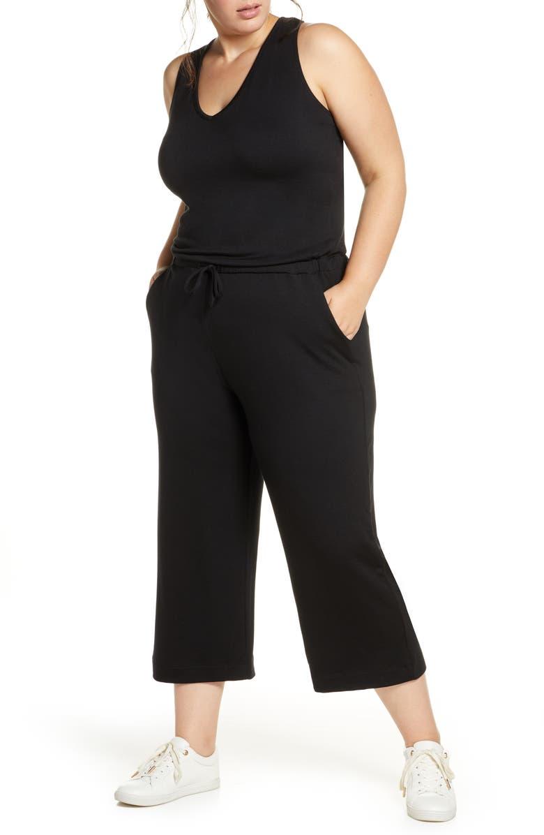 BEYOND YOGA Farrah Crop Jumpsuit, Main, color, 001