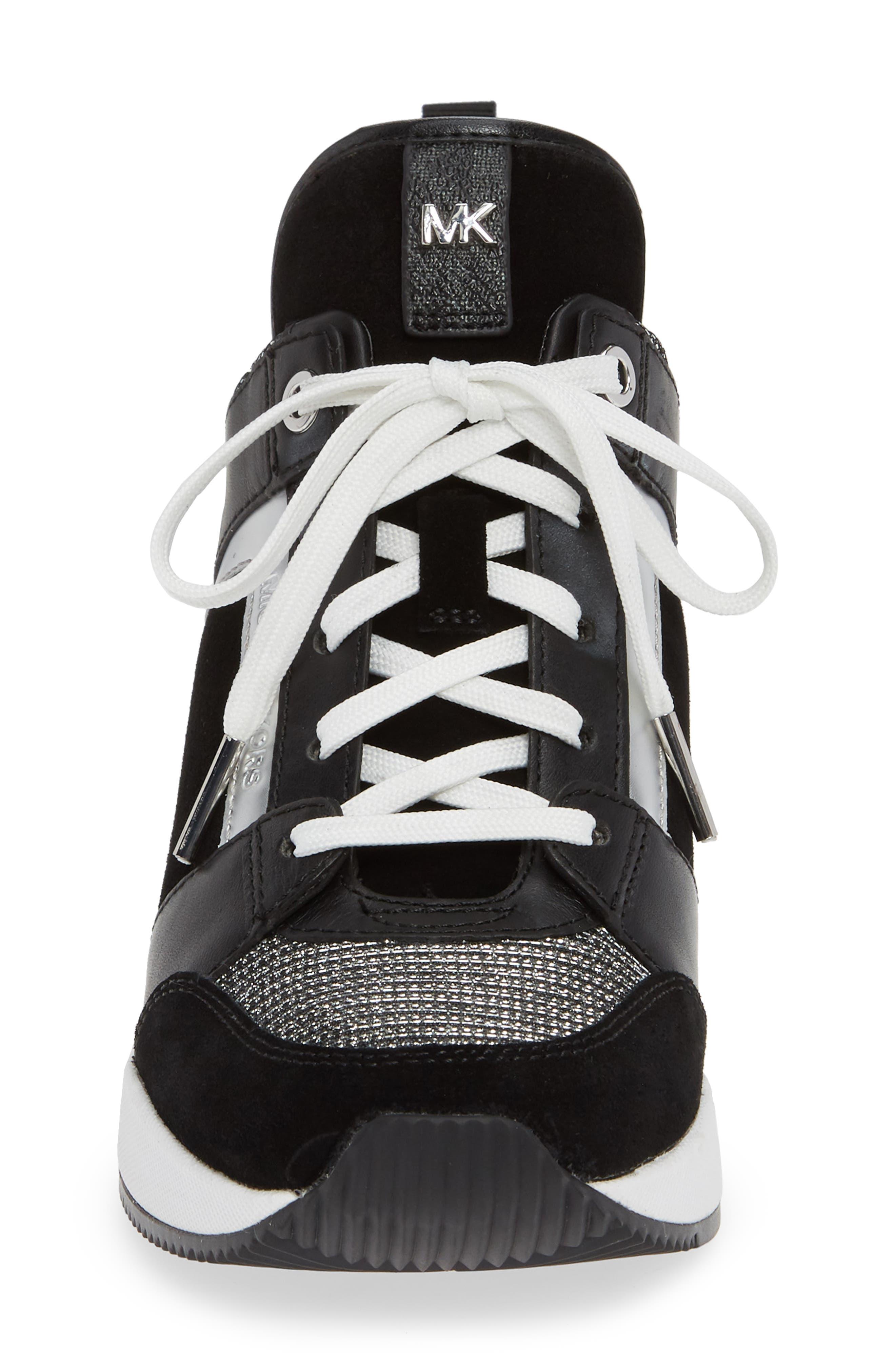 ,                             Georgie Wedge Sneaker,                             Alternate thumbnail 4, color,                             001