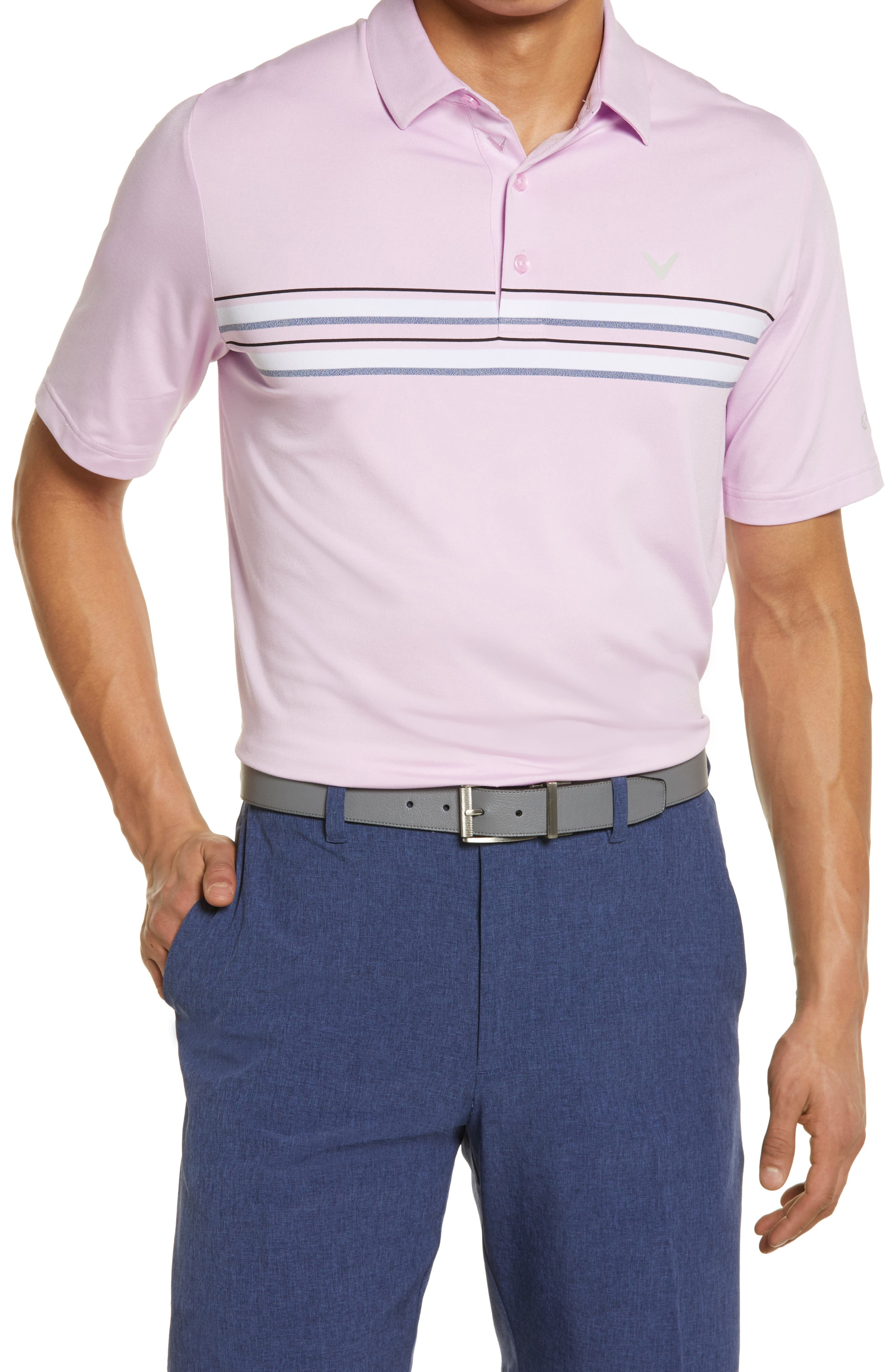 Men's Callaway Golf Stripe Stretch Golf Polo