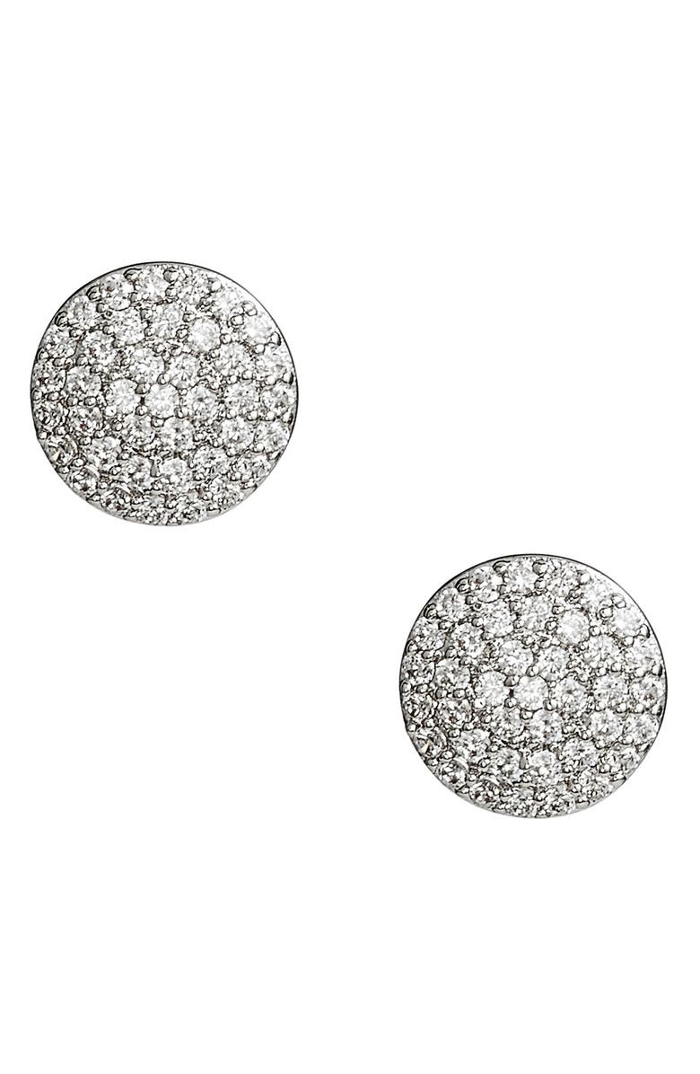 NORDSTROM Pavé Disc Stud Earrings, Main, color, 040