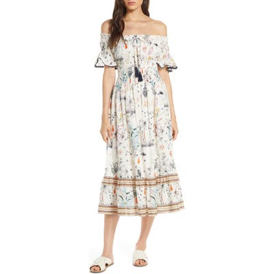 Tory Burch Meadow Folly Off The Shoulder Cover-Up Dress