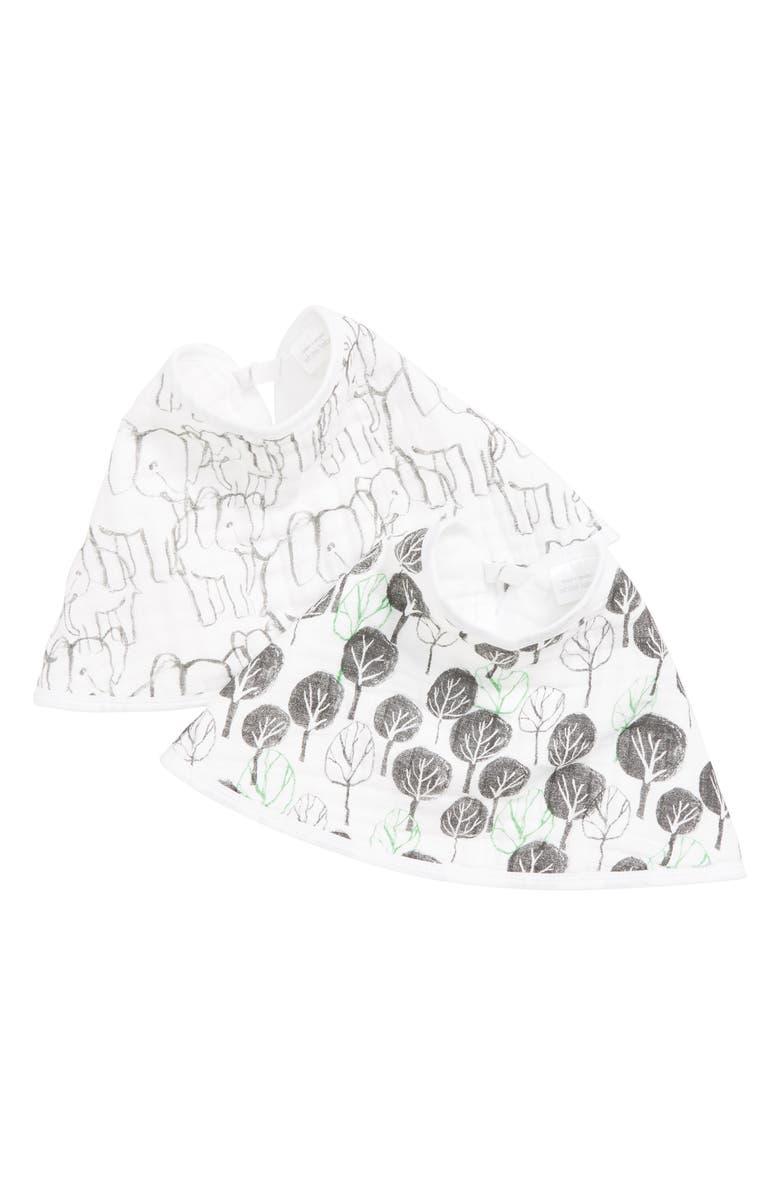 ADEN + ANAIS White Label Sage Advice 2-Pack Burpy Bibs, Main, color, 100