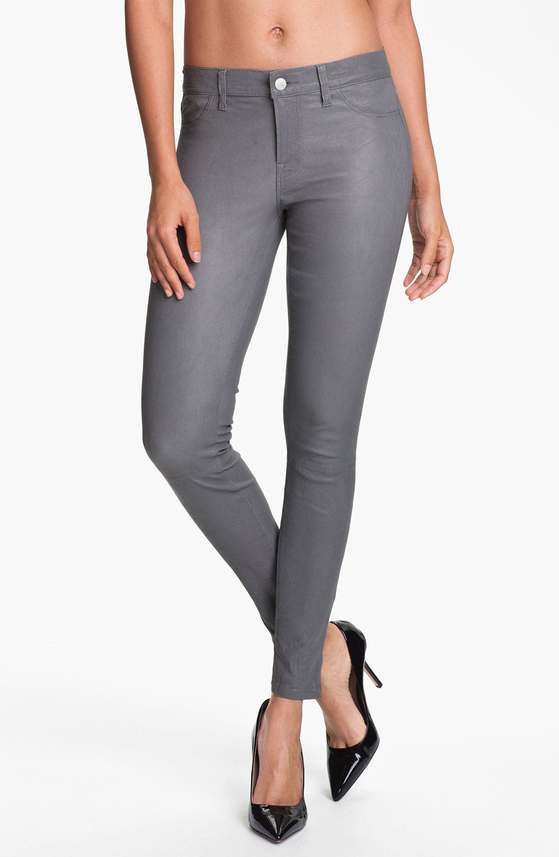 ,                             '8001' Lambskin Leather Pants,                             Main thumbnail 39, color,                             022