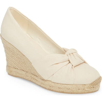 Soludos Knotted Wedge Pump, Ivory