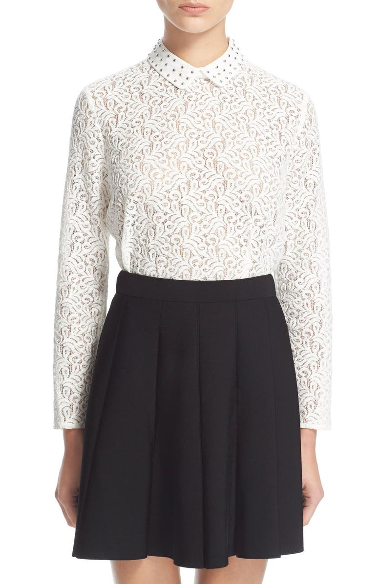 f6695169e4 The Kooples Studded Collar Lace Shirt   Nordstrom