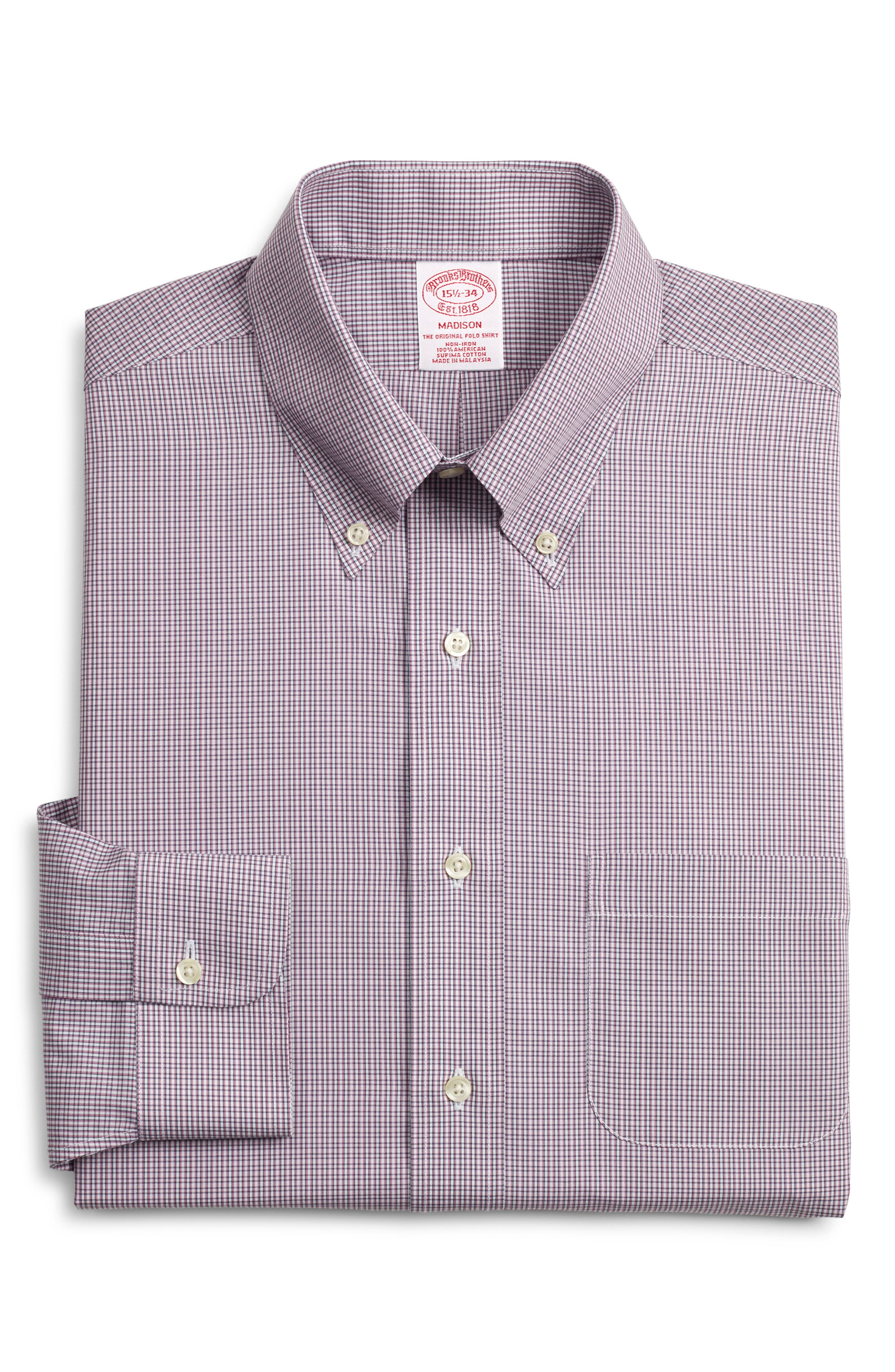 Brooks Brothers Madison Classic Fit Plaid Dress Shirt (3 For $207)