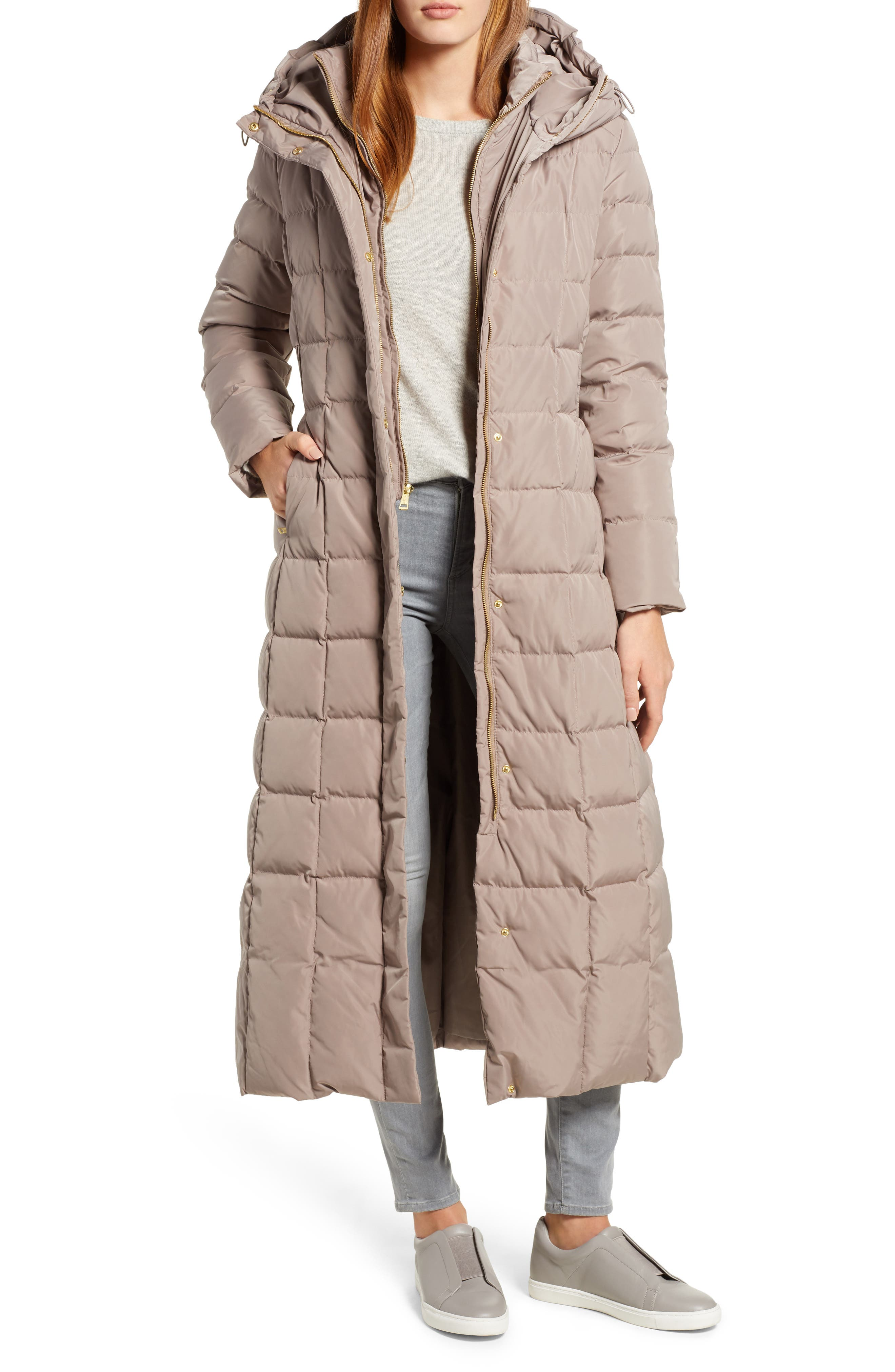 Women's Cole Haan Quilted Coat With Inner Bib