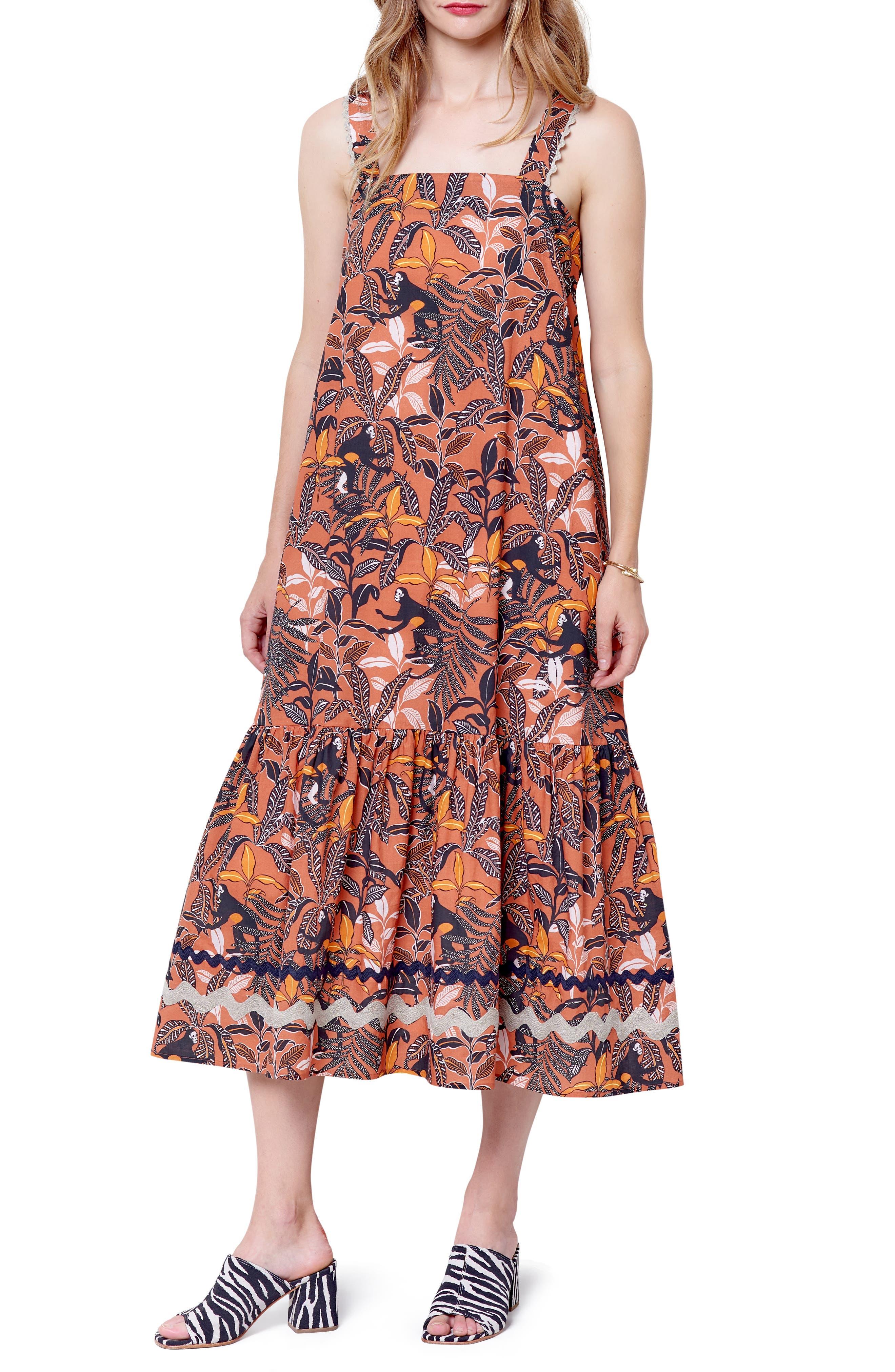 Martina Tiered Midi Dress