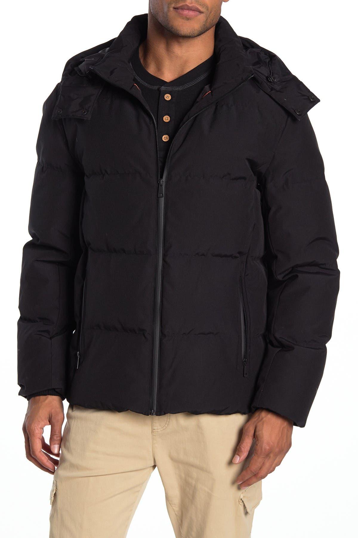 Cole Haan Hooded Zip Puffer Down Jacket