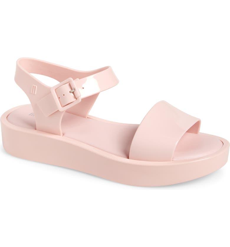 MELISSA Mar Platform Sandal, Main, color, LIGHT PINK RUBBER