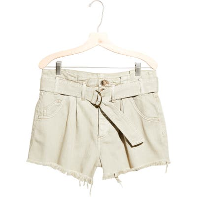 Free People See You Sometime Cut-Off Shorts, Beige