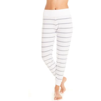 Chaser Cozy Stripe Jogger Pajama Pants, Blue
