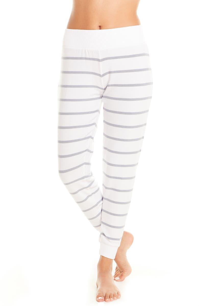 CHASER Cozy Stripe Jogger Pajama Pants, Main, color, 400