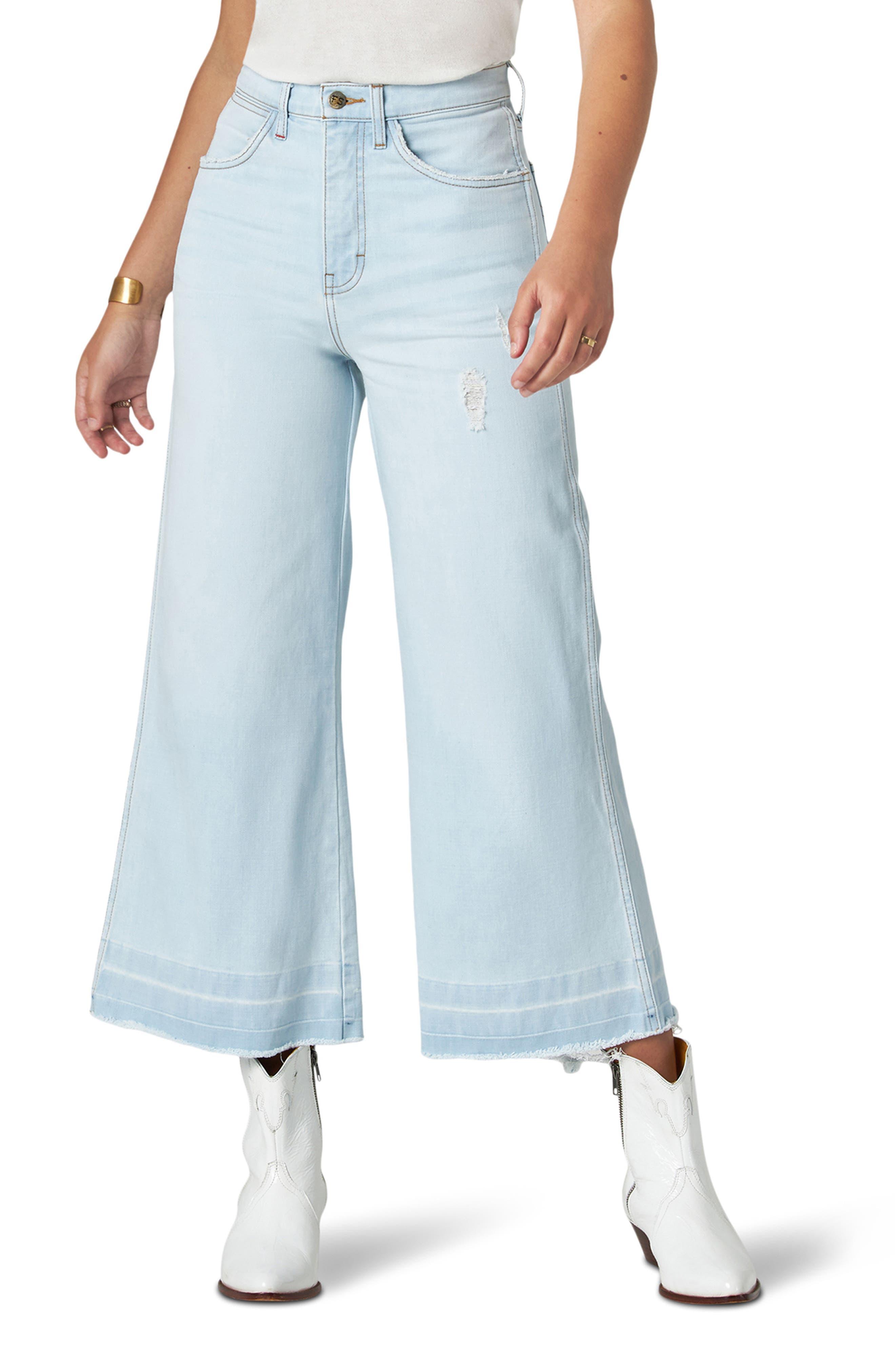 Image of Wrangler Wide Leg Crop Jeans