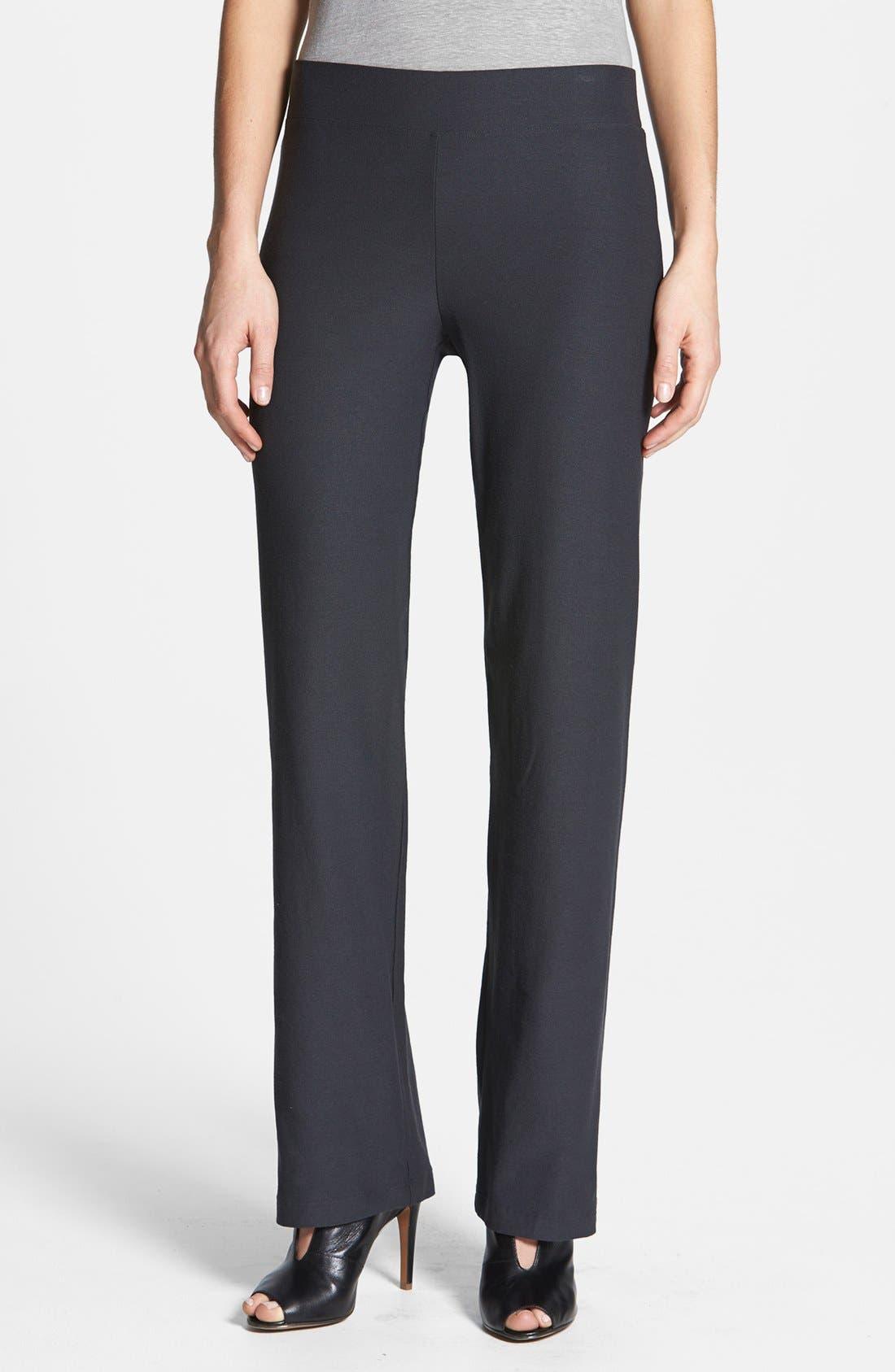 women's eileen fisher straight leg crepe pants