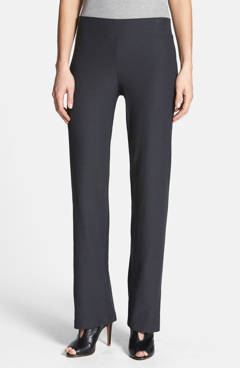 EILEEN FISHER Straight Leg Crepe Pants, Main, color, 025