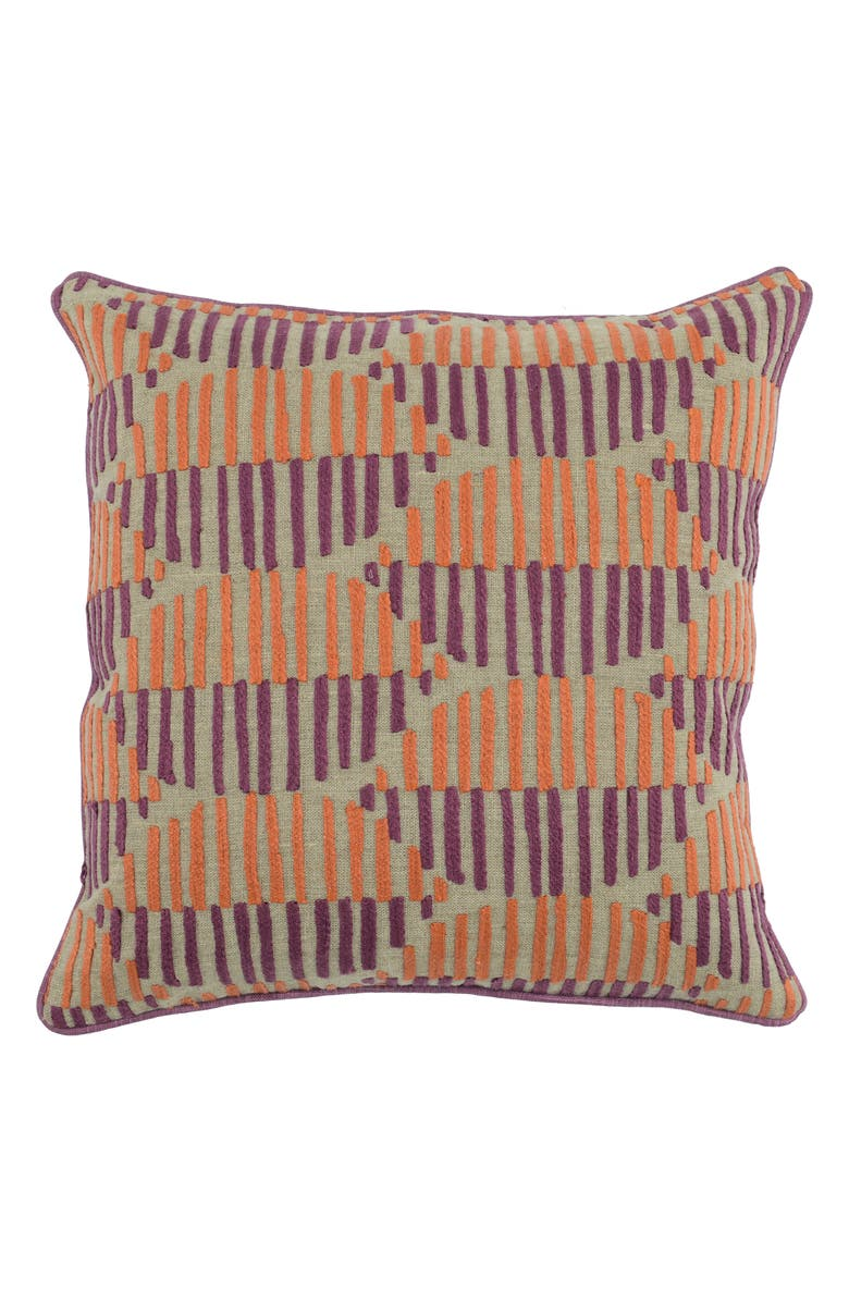 VILLA HOME COLLECTION Harmony Accent Pillow, Main, color, BERRY/ ORANGE